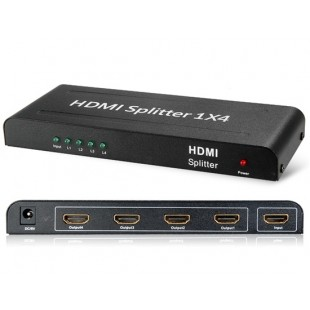 Mini HDMI 1 * 4 Splitter (черный)