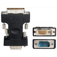 DVI 24 +5 мужчина к VGA Мужской конвертер адаптер (черный)