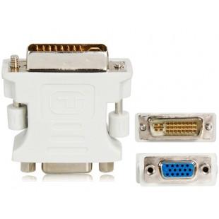 DVI 24 + 5 до VGA (M к F) адаптер Dongle конвертер (белый)