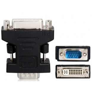 DVI 24 + 5 до F / VGA адаптер Dongle (черный)