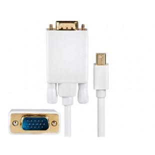 Mini DisplayPort мужчина к VGA Мужской адаптер кабель 1,8 м (белый)