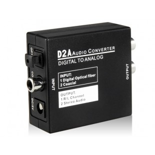 D2A цифро-аналоговый аудио конвертер (черный)