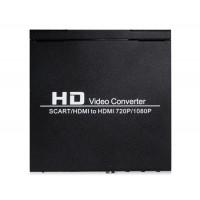 NEWKENG 8S SCART / HDMI к HDMI Video Converter США Plug (черный)