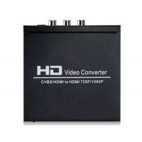 NEWKENG 8А CVBS / HDMI к HDMI конвертер (черный)