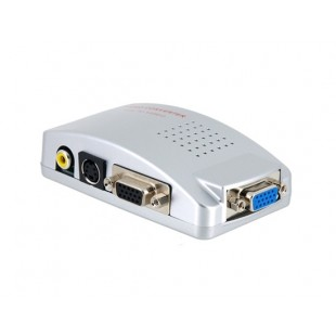 VGA  в ТВ  видео конвертер PC VGA to TV Signal Converter   VGA  видео конвертер