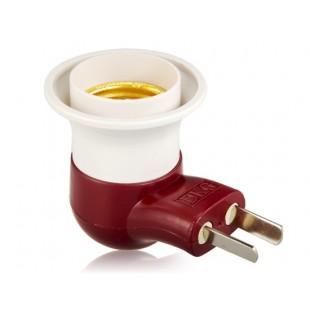 E27 трубочного табака дизайн LED Light Socket чтобы США Plug адаптер конвертер с выключателем (белый + темно-красный)