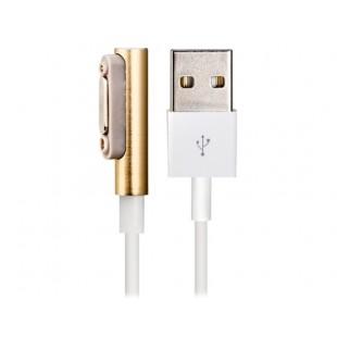 Магнитный USB зарядный кабель данных с легкими для Sony XL39H / Z1 L39H M51w Z2 L39T / U (белый + Золотой)