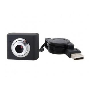 Мини  вебкамера USB 5M Ввыдвижной шнур на зажиме для ноутбука
