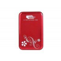 """USB 3.0 алюминиевый корпус для 2,5 """"внешнего жесткого диска (красный)"""