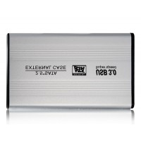 "2.5 ""SATA с USB3.0 Жесткий диск Корпус (серебро)"