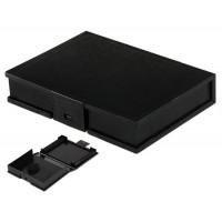 """3.5 """"Пластиковый защитный чехол для IDE / SATA жестких дисков (черный)"""