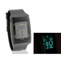 мужские Стильный 50 м водонепроницаемый цифровой часы (черный)
