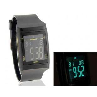 Мужская Стильный 50 м водонепроницаемый цифровой часы (черный)