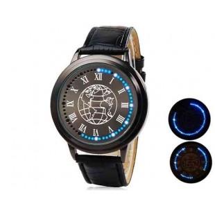 Мужские LED Touch-Screen Бизнес часы  (черный)