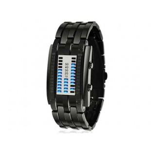 SKMEI 0953 3ATM водонепроницаемые светодиодные часы  (черный)