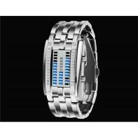 Женские SKMEI 0953 3ATM водонепроницаемые светодиодный часы с цинковым браслетом (серебро)