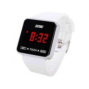 SKMEI 0950 3ATM водонепроницаемые часы с анимацией Набор символов (белый)
