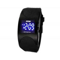 SKMEI 0951 3ATM водонепроницаемые светодиодные наручные часы (черные)