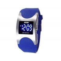 SKMEI 0951 3ATM водонепроницаемые светодиодные цифровой дисплей  наручные часы (синий)