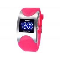 SKMEI 0951 3ATM водонепроницаемые светодиодные цифровой дисплей  наручные часы(розовый)