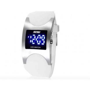 SKMEI 0951 3ATM водонепроницаемые светодиодные цифровой дисплей  наручные часы(белый)