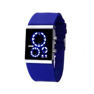 SKMEI 0984 3ATM водонепроницаемые светодиодные цифровые спортивные часы для подводного плавания (синий)