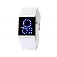 SKMEI 0984 3ATM водонепроницаемые светодиодные цифровые спортивные часы для подводного плавания (белый)