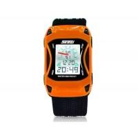 SKMEI 0981 5ATM водонепроницаемые цифровые спортивные часы  (оранжевый)