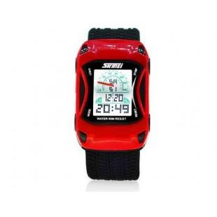 SKMEI 0981 5ATM водонепроницаемые цифровые спортивные часы  (красный)
