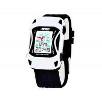 SKMEI 0981 5ATM водонепроницаемые цифровые спортивные часы  (белый)