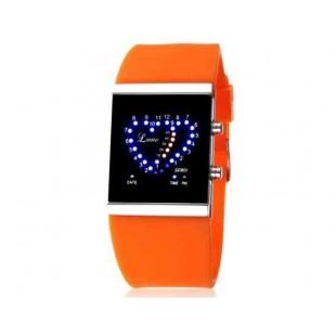 SKMEI 0952 5ATM водонепроницаемый цифровой светодиодный дисплей часы  (оранжевый)