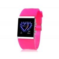 SKMEI 0952 5ATM водонепроницаемый цифровой светодиодный дисплей часы   (Rose Red)