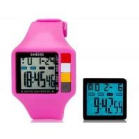 SHORS SH-601 Светодиодный дисплей Водонепроницаемые часы (розовый)