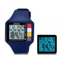 SHORS SH-601 светодиодные водонепроницаемые часы (темно-синий)