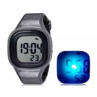 SHORS SH-689  светодиодный цифровой водонепроницаемые часы с будильником и подсветкой (черный)