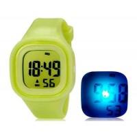 SHORS SH-689 ветодиодные цифровые водонепроницаемые часы с будильником и подсветкой (зеленый)