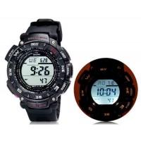 SHORS SH-737 водонепроницаемые часы с будильником и подсветкой (черный)