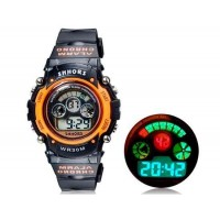 Купить SHORS SH-353  Водонепроницаемые круглые часы с цифровым светодиодным дисплеем для мужчин и женщин (оранжевые) М.