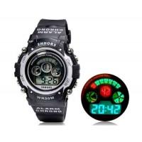 Купить SHORS SH-353 светодиодный цифровой дисплей Водонепроницаемые часы (серебро