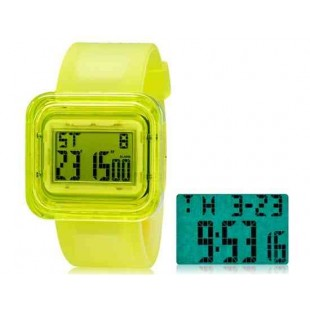 SHORS SH-615 светодиодные цифровые водонепроницаемые часы с будильником и подсветкой (зеленый)