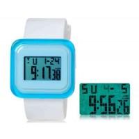 SHORS SH-615 светодиодные цифровые водонепроницаемые часы с будильником и подсветкой (белый)