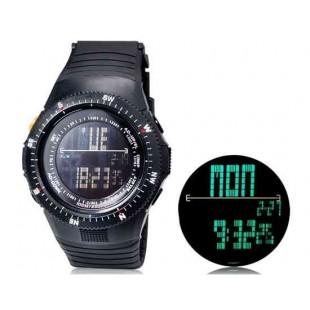 SHORS SH-783  светодиодный цифровой дисплей водонепроницаемые часы (черный)