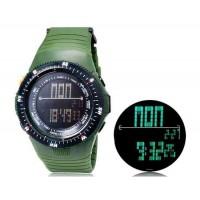 SHORS SH-783  светодиодный цифровой дисплей Водонепроницаемые часы (Army Green)