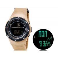 SHORS SH-783 светодиодный цифровой дисплей Водонепроницаемые часы (коричневый)