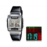 SHORS SH-358 . Прямоугольные, водонепроницаемые часы со светодиодным дисплеем для мужчин и женщин (черные) М.