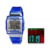 Купить SHORS SH-358 Светодиодный дисплей Водонепроницаемые часы (синий)