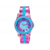 SHORS 80069B Женские стильные круглые аналоговые часы (розовый)