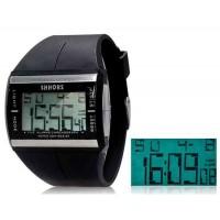 SHORS SH-366 светодиодный цифровой Водонепроницаемые часы с датой (черный)