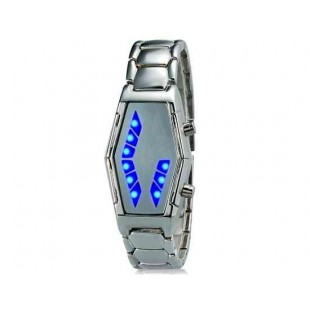 Дизайн -  Змеиная голова  LED часы из нержавеющей стальной ленты