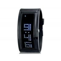 Стильный 125-Светодиодные часы  (черный)